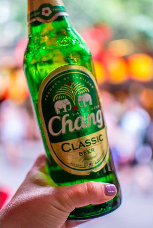 Drinking beer in Thailand