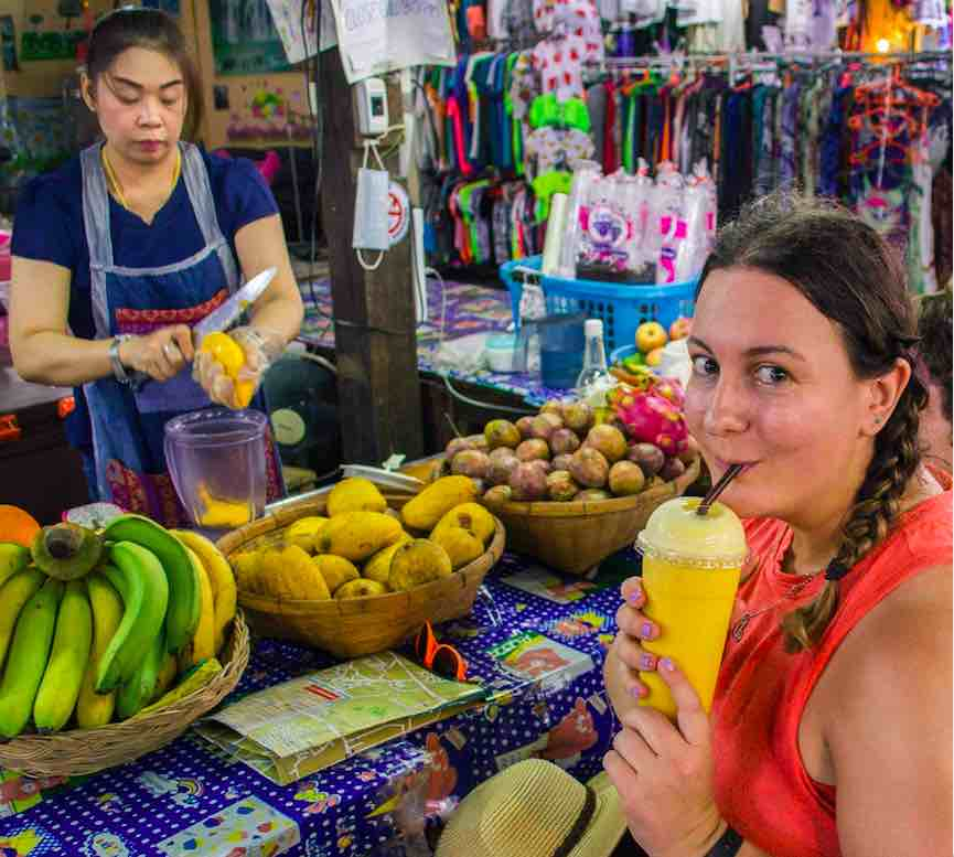 Fruit smoothie in Chiang Mai!