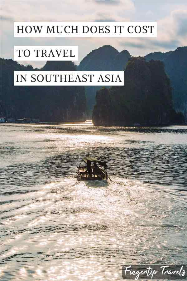 How much does it cost to travel through Southeast Asia for 3 months