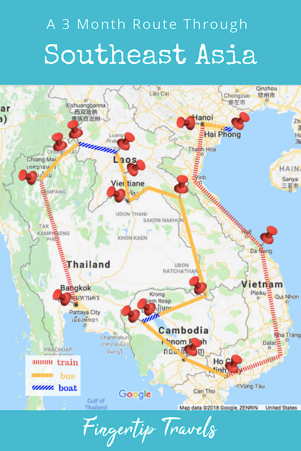 Three Month Route Through Southeast Asia: a three month Southeast Asia Itinerary