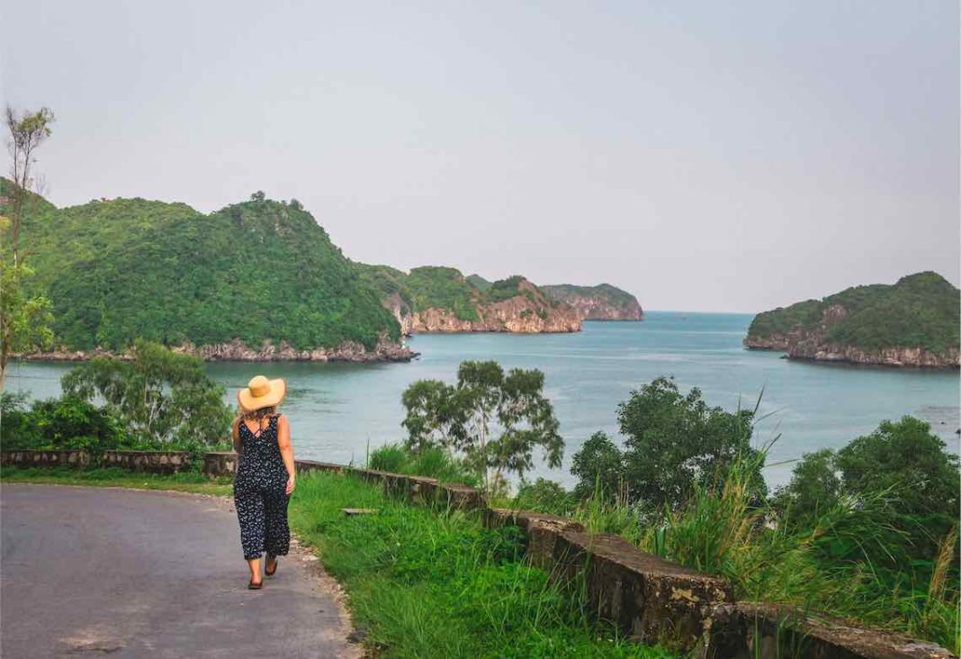 Walking on Cat Ba Island Vietnam