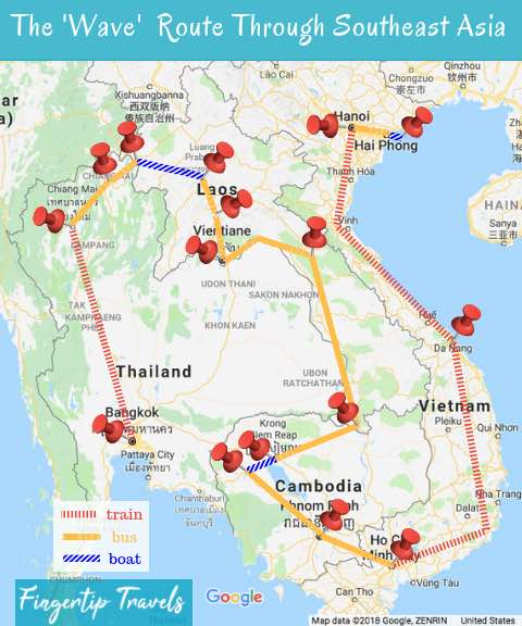 Southeast Asia Route Map