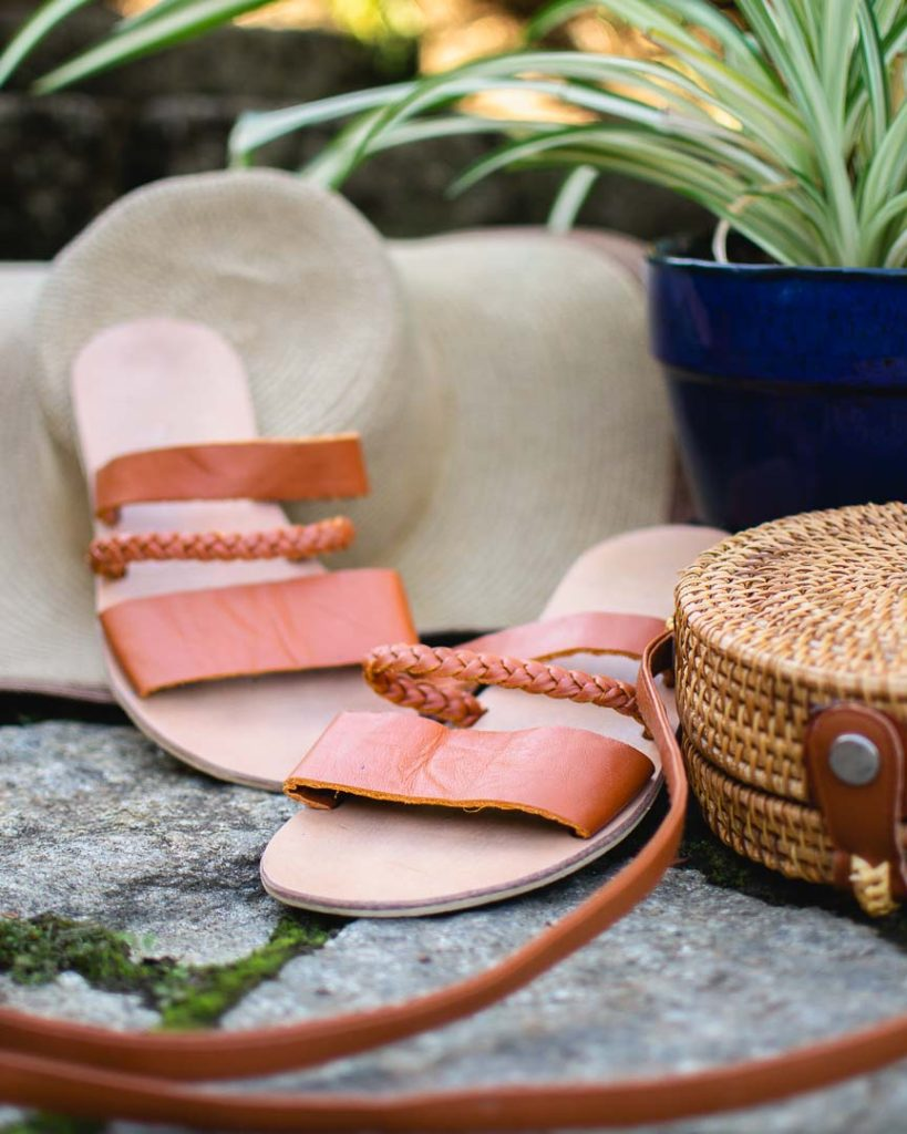 Custom leather sandals made in Hoi An