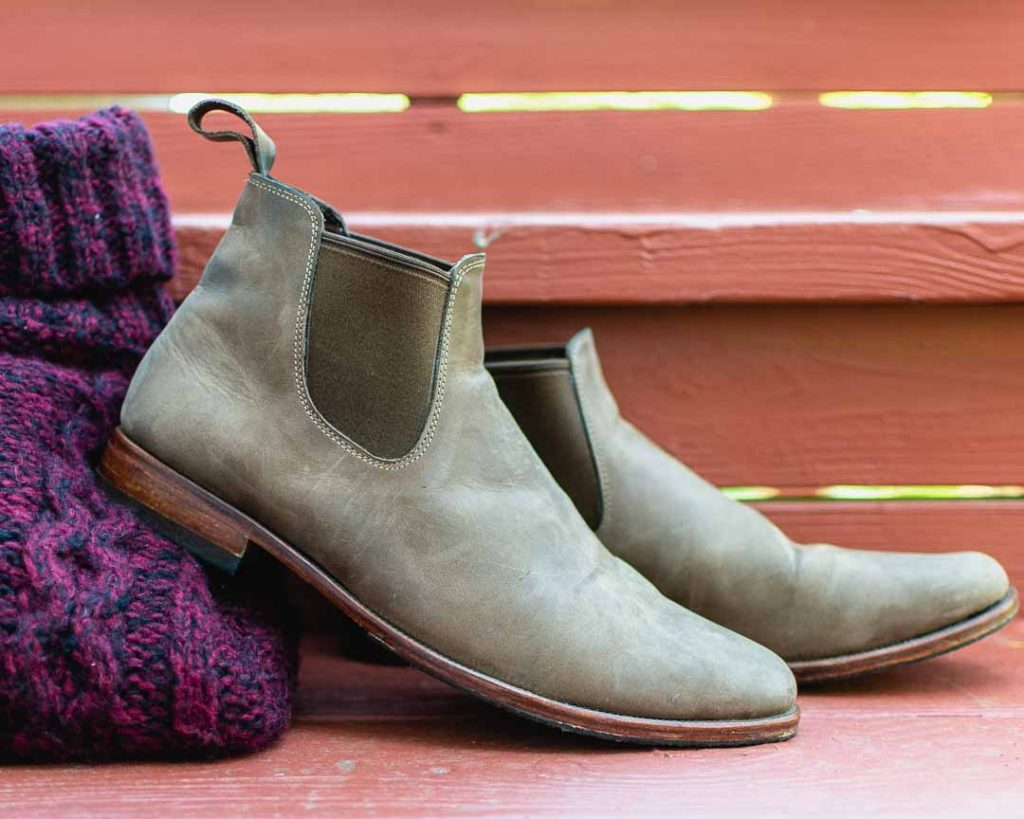 Getting shoes made in Hoi An, Vietnam: custom leather Chelsey boots