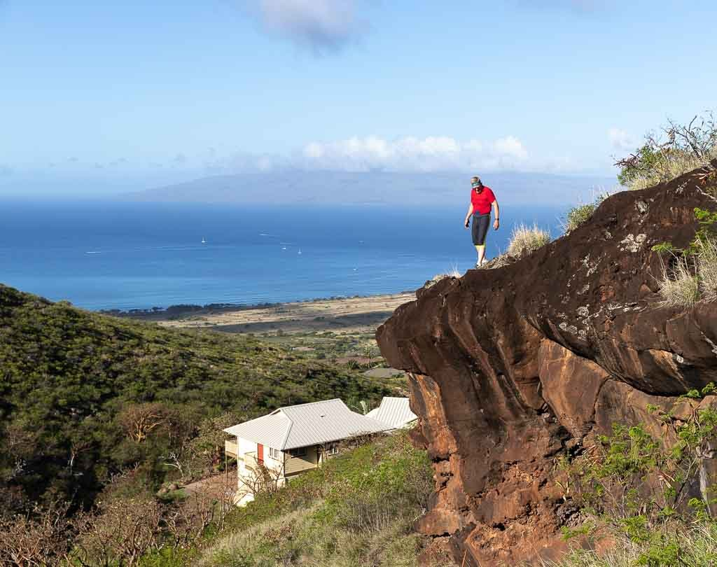 View of Lanai from Lahaina Family Farm