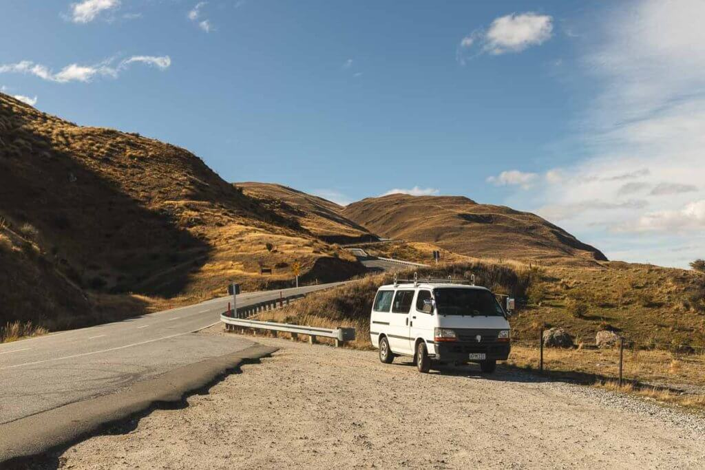 How to buy a van in New Zealand: Van near Wanaka