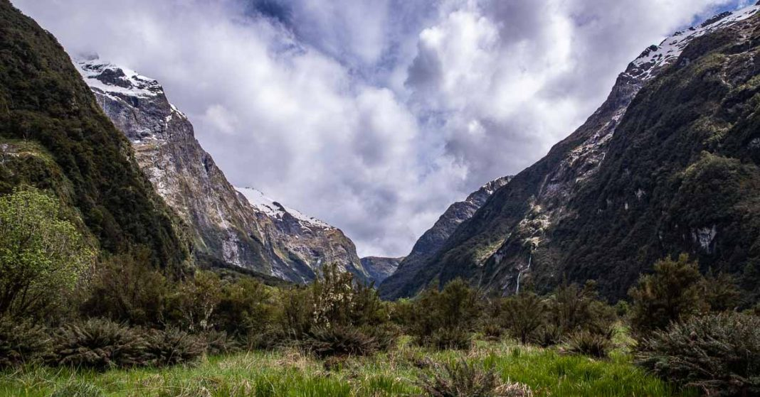 Mountain Valley on Milford Track, New Zealand