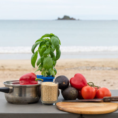 Food prep on the beach