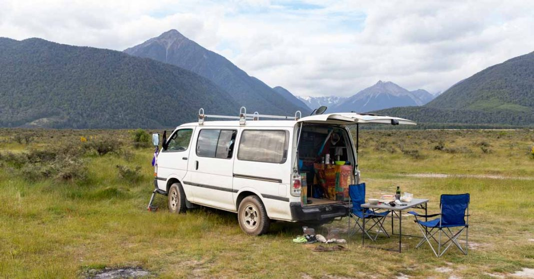 Campervan at Arthur's Pass
