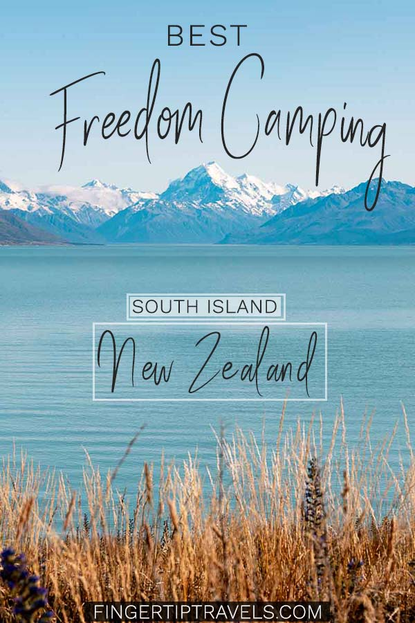 Best Freedom Camping South Island New Zealand Pin